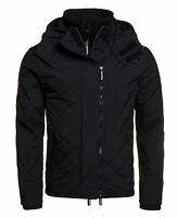 Superdry Mens Quilted Hooded Polar Windcheater Jacket (Black)