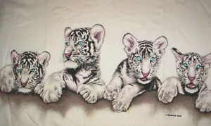 habitat white tiger baby blue eyes t shirt l ebay