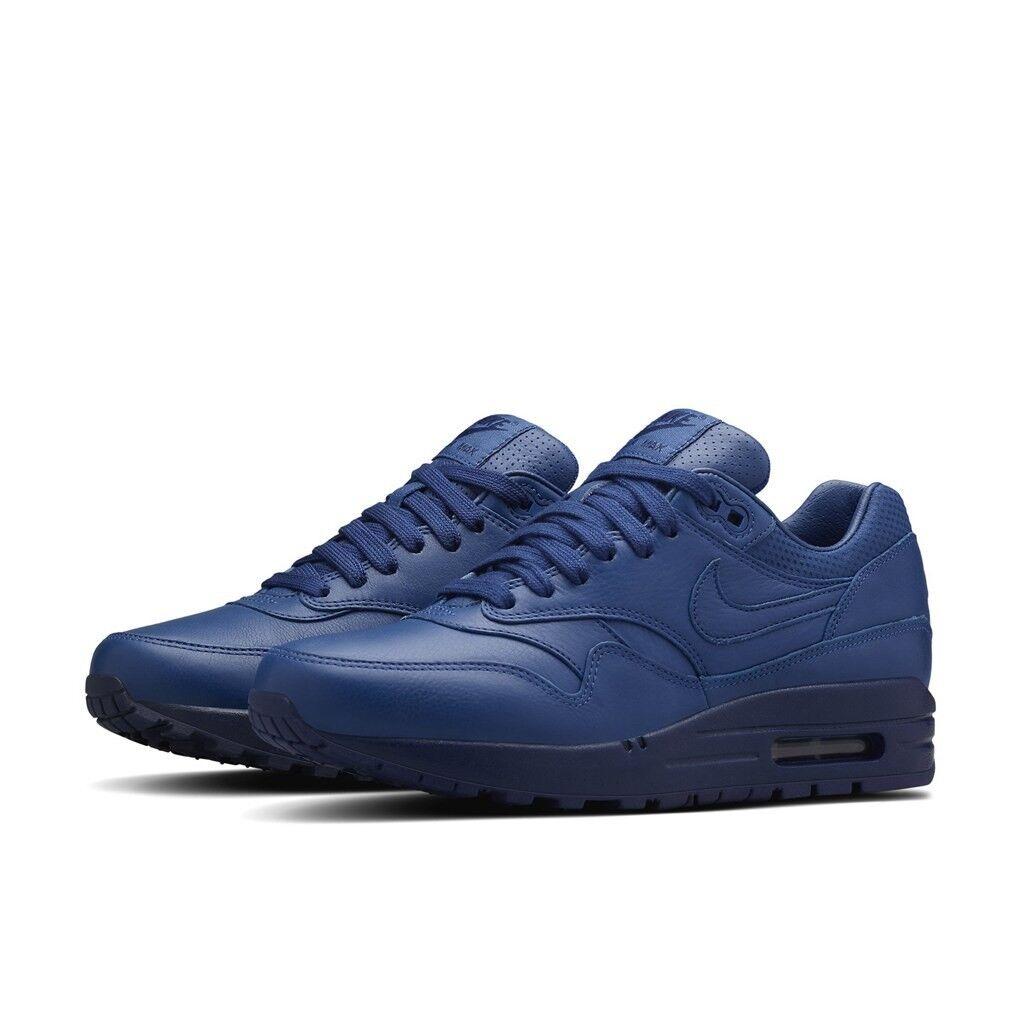 Nike Air Max 1 para pináculo de Cuero para 1 Mujeres Zapatos Talla EE. UU 6 Azul 839608-400 098ad3