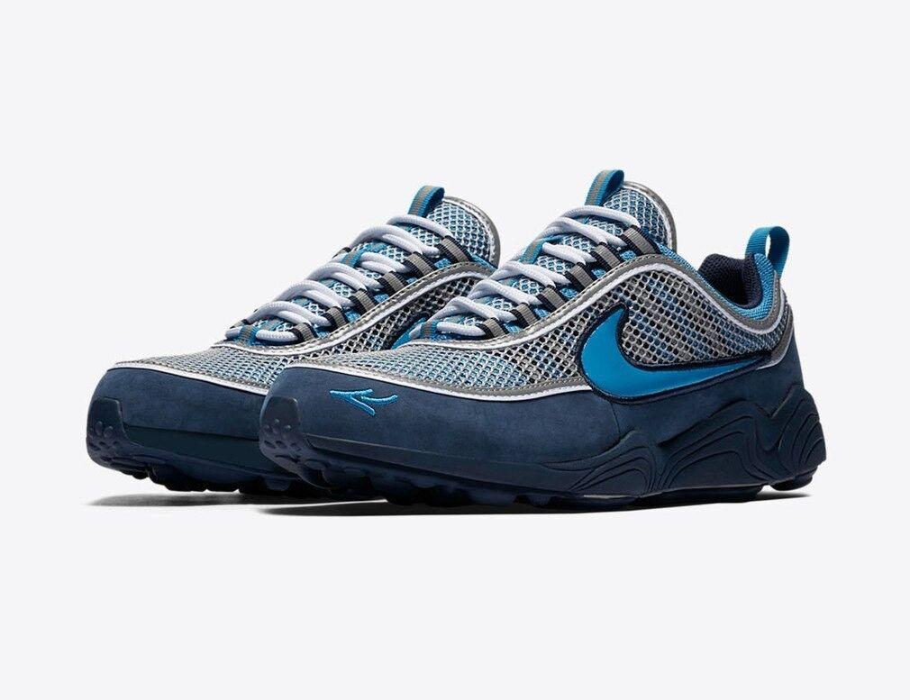 STASH x Nike Air Zoom Spiridon '16 SIZE 7.5 Harbor Blue Heritage Cyan AH7973-400 Seasonal clearance sale