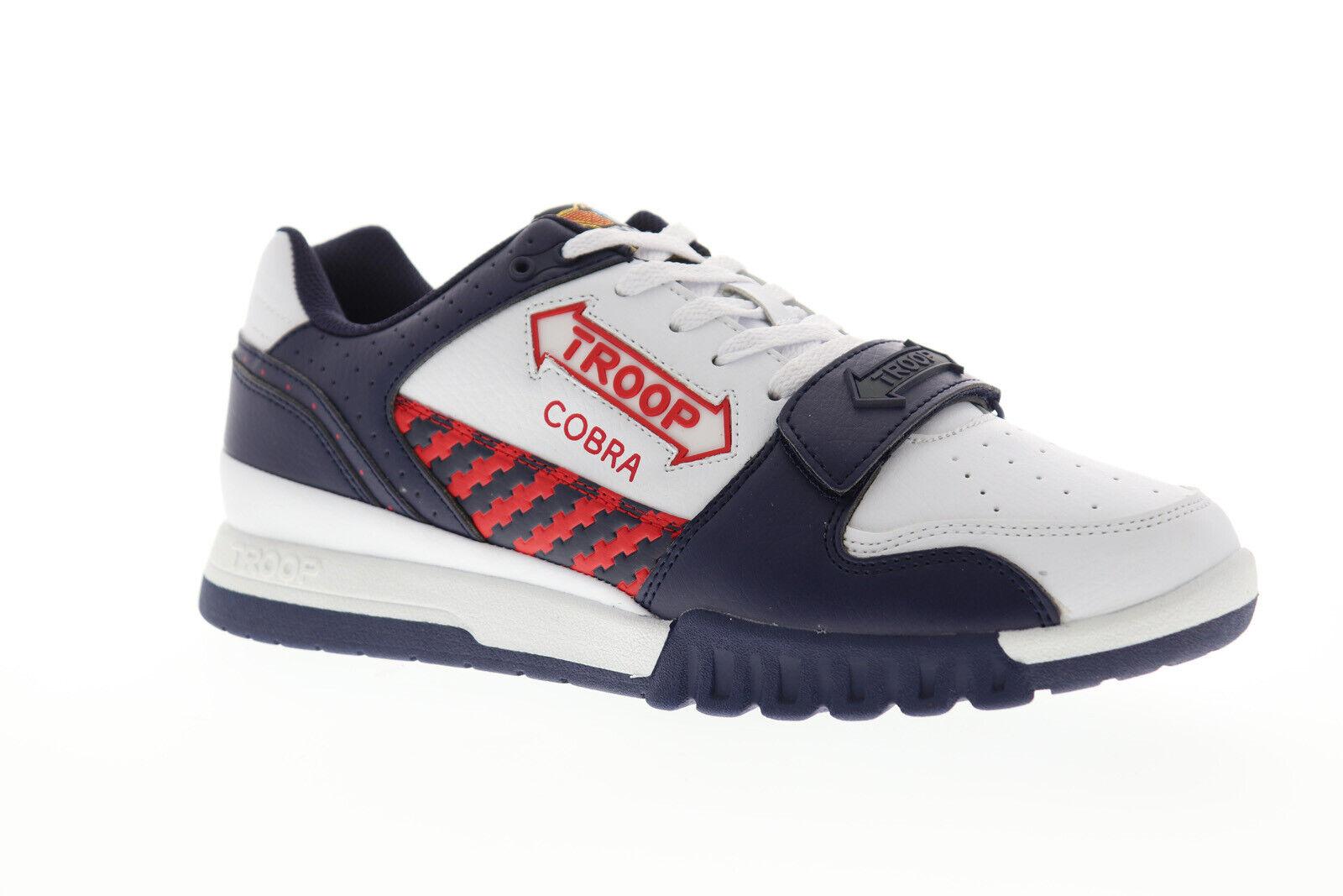 Mundo de tropa Cobra Para Hombre blancoo Sintético Low Top Tenis Deportivas Zapatos Con Cordones