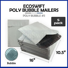 5 5 105x16 Poly Bubble Mailers Padded Envelope Shipping Supply Bags 105 X 16