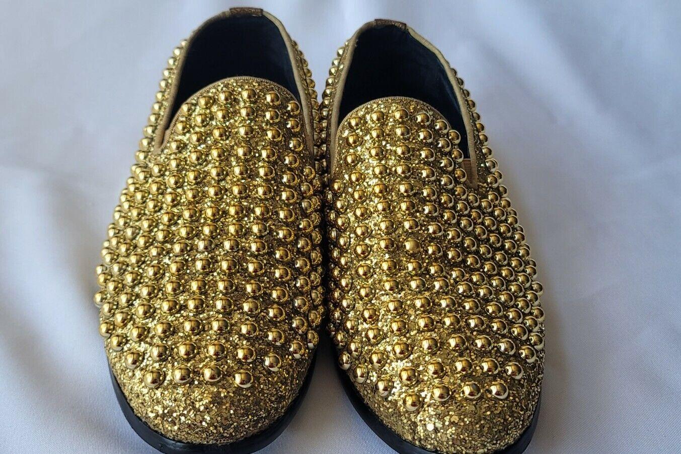 Jump Newyork Luxor-ii Pearl Shaped Ornamented Upper Dress Loafers Sz 9.5 #422.4