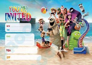 Detalles De 95 Hotel Transilvania Vacaciones Pack De 10 Niños Fiesta De Cumpleaños Invitaciones Ver Título Original