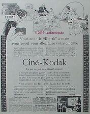PUBLICITE CINE KODAK CAMARA KODASCOPE ENFANT THE DE 1926 FRENCH AD PUB ART DECO