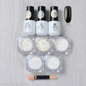 9pcs-Black-UV-Gel-Polish-Nail-Art-Gradient-Chrome-Glitter-Dust-Powder