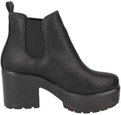 Mädchen Plateau Blockabsatz Schuhe Stiefel ohne Bügel Schnalle Spitze von
