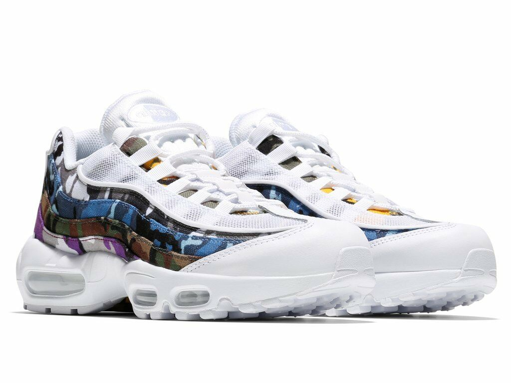 NIKE AIR MAX 95 ERDL PARTY SZ 10.5 WHITE MULTI COLOR AR4473-100