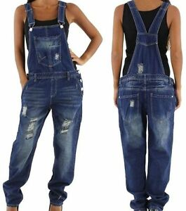 neu weite damen latzhose relaxed baggy boyfriend overall 34 36 38 40 42 jeans ebay. Black Bedroom Furniture Sets. Home Design Ideas