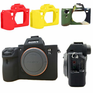 best sneakers a9752 07ec5 Details about Soft Silicon Protective Case Skin Frame Cover for Sony A7  III/A7R3/A7 MarkIII