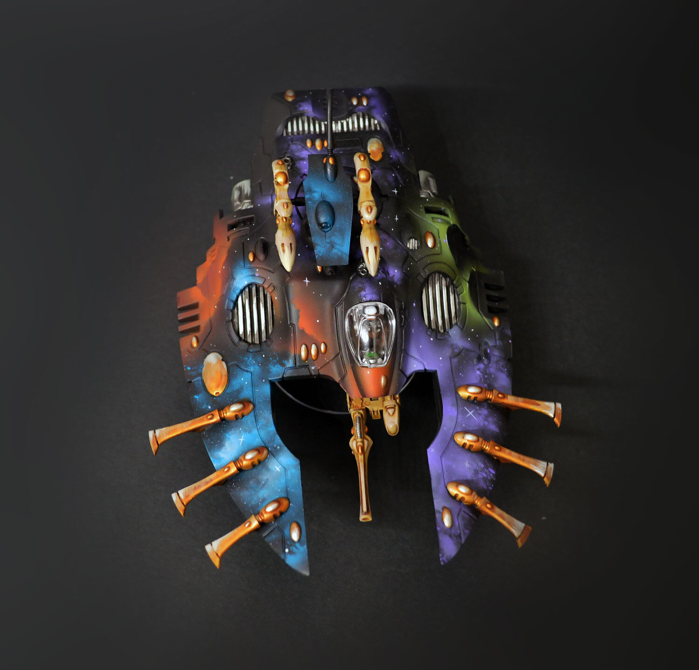 Craftworlds Wave Serpent Eldar warhammer 40K  COMMISSION   painting  presa