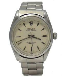 1956-STAINLESS-STEEL-ROLEX-OYSTER-PERPETUAL-AUTOMATIC-VINTAGE-WATCH-34MM-6564