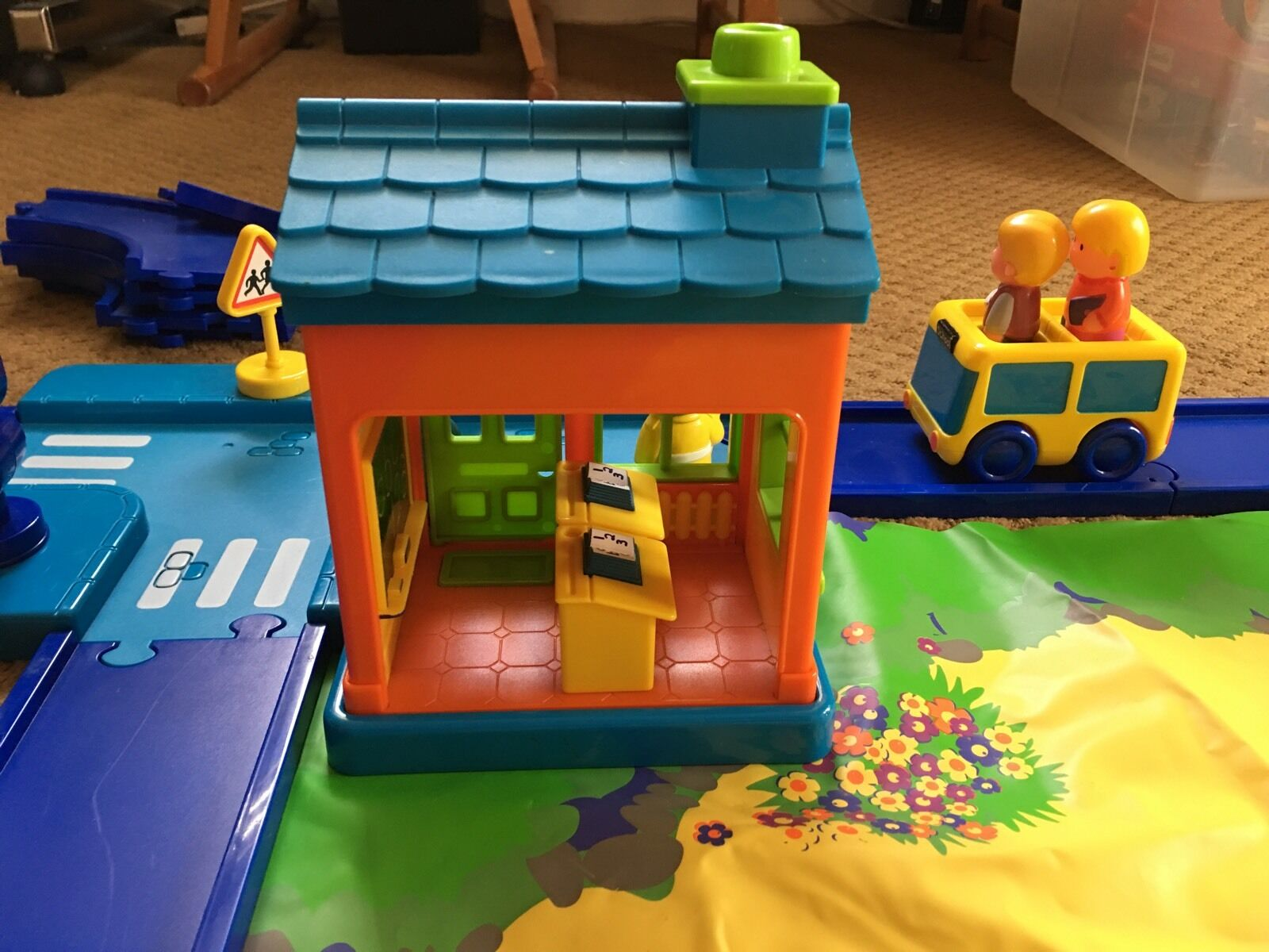 Toy imagination play little people people people  I Play  village w house school farm bus car 595b32