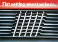 Fiat 1984 UK Market Brochure Panda Uno Strada X1/9 Panorama Regata Argenta