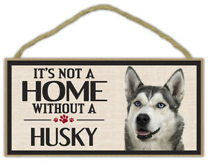 Gifts It/'s Not A Home Without An ALASKAN MALAMUTEDogs Wood Sign
