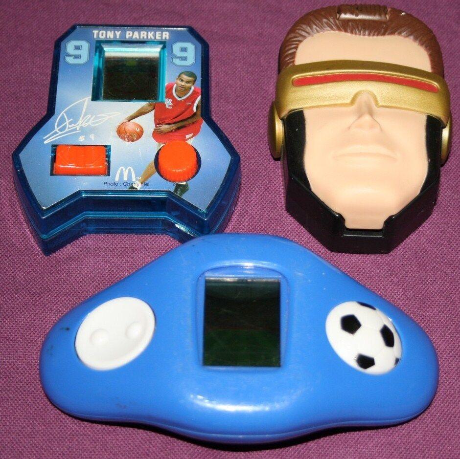 LOT 3 JEUX ELECTRONIQUE ELECTRONIC GAMES HANDHELD MACDO MARVEL