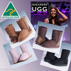 Genuine-HAND-MADE-Australia-SHEARERS-UGG-Classic-Short-Sheepskin-Short-Boots