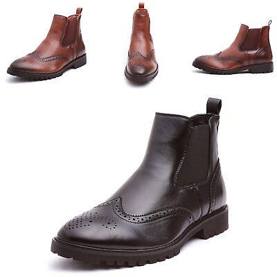 fd12f34bf5ffe7 Scarpe uomo stivaletti tronchetto eco pelle new boots elastico chelsea  00A-927LG | eBay