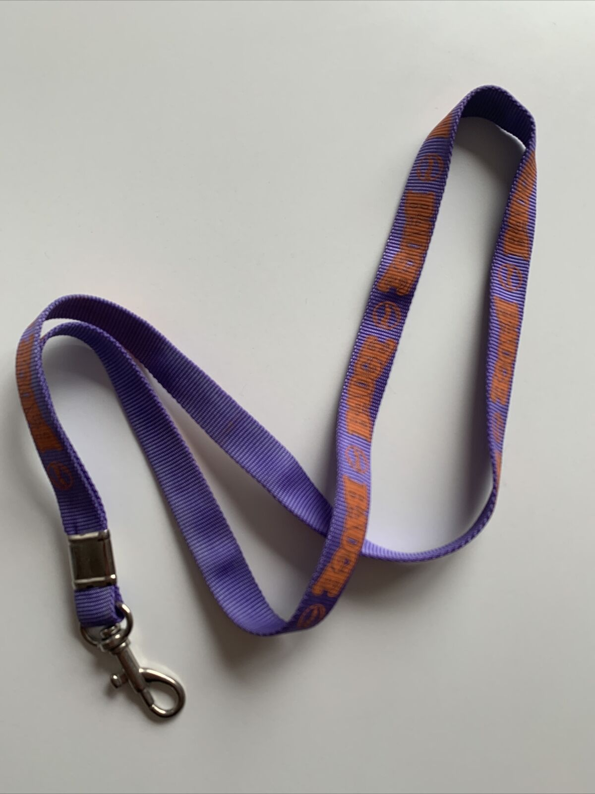 Badge Purple Lanyard Breakaway Safety Neck Strap With Metal Clip ID Badge Keys