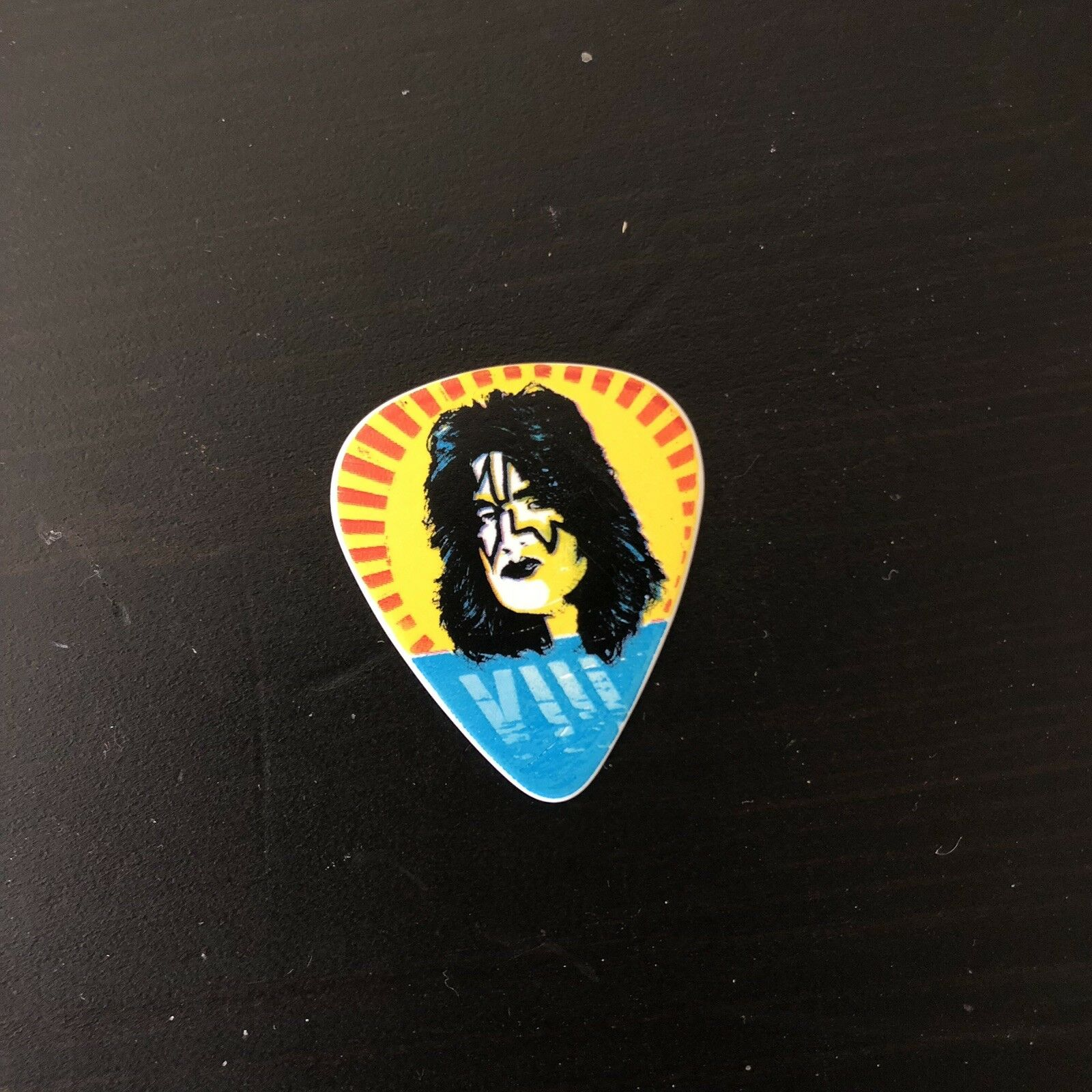 s l1600 - KISS End Of Road Tour Guitar Pick 2019 - Spaceman Tommy Thayer Signed Autograph