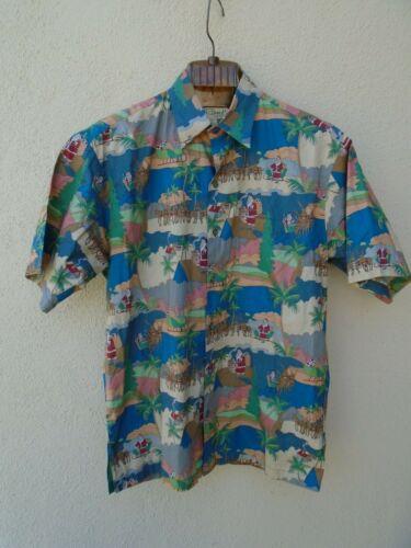 TORI RICHARDS Hawaiian Christmas Santa Shirt Size