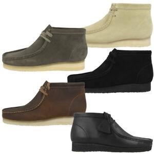Details zu Clarks Wallabee Boot Schuhe Herren Originals Freizeit Stiefel Boots Schnürschuhe