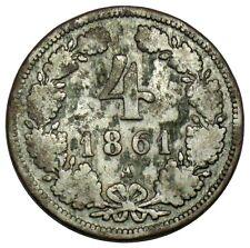 Austria 4 Kreuzer, 1861