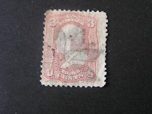 UNITED-STATES-SCOTT-64-3c-VALUE-PINK-1861-62-GEORGE-WASHINGTON-ISSUE-USED