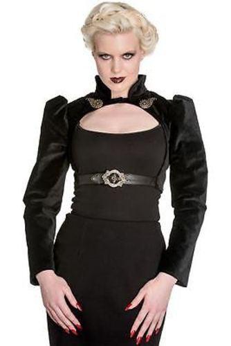 Spin Doctor Lorena Bolero 50s Rockabilly Goth Steampunk Chemise Veste Manteau