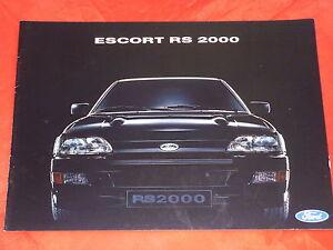FORD-Escort-RS-2000-Prospekt-von-1991