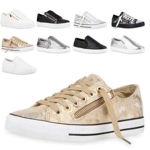 Damen Lack Sneakers Low Kroko Turnschuhe Schnürer 79536 New Look