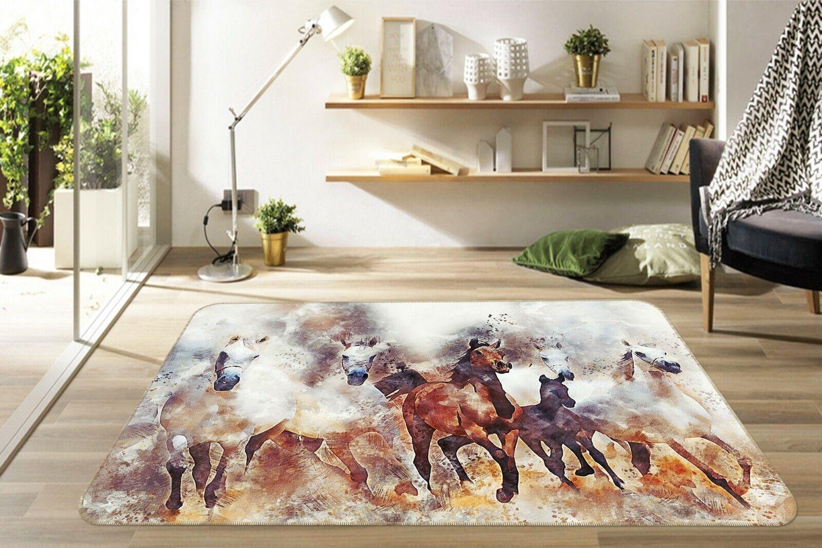 3d cavallo dipingere a070 GIOCO ANIMALI antiscivolo tappeto elegante foto TAPPETO Wendy
