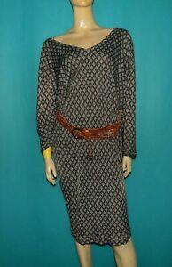 robe-MALIPARMI-ample-bleu-verte-Taille-42-FR-ou-46-IT-TRES-BON-ETAT
