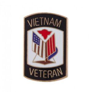 Veterans Enamel Lapel Badge  VIETNAM 1959-75