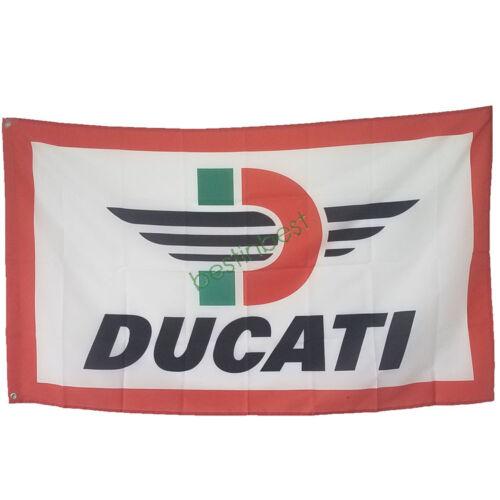 Nouvelle Voiture Bannière Drapeau Pour Ducati Drapeau 3x5FT Mur Bannière Shop Show decor