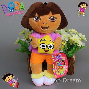New-Dora-The-Explorer-Plush-Toy-Soft-Stuffed-Doll-10-039-039-Kids-Girls-Cuddly-Gift