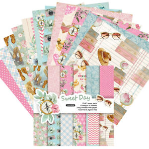 12X-6-Zoll-Sweet-Day-Hintergrundpapier-DIY-Scrapbooking-Foto-Album-Junk-Journal