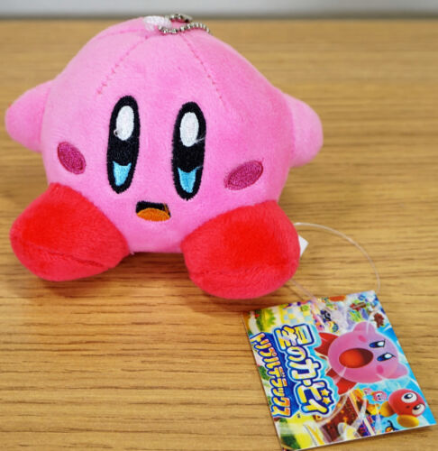 """Kirby Game 3/"""" bag link Pendant Pink Teddy Character Keychain Plush toy Key Line"""