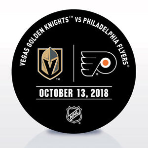 Philadelphia-Flyers-Issued-Unused-Warm-Up-Puck-10-13-18-Vs-Vegas-Golden-Knights