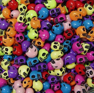 20 x 18mm Purple Skulls Heads Halloween Beads Gothic Skeleton Head M6