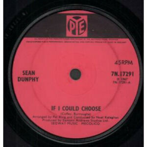 SEAN-DUNPHY-If-I-Could-Choose-7-034-VINYL-UK-Pye-Solid-Label-Design-B-W-Yellow