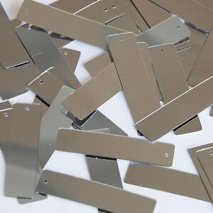Silver-Metallic-Sequin-Skinny-Rectangle-1-5-inch-Couture-Loose-Paillettes