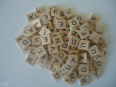 200 Scrabble Wooden Letters Tiles Crafts Weddings Vintage 2cm x 2cm Game Pendant