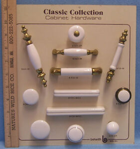 Ordinaire Image Is Loading Belwith Cabinet Hardware Knobs Amp Pulls White Porcelain