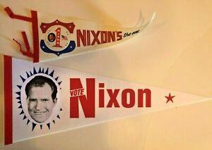 1968 Win Wth Richard Nixon GOP Elephant Presidential Campaign Button NOS New