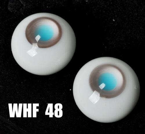 New Gray Iris/&LightBlue Pupil Glass 10mm Eyes for 1//6 BJD Dollfie