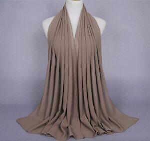 Women Fashion Chiffon Long Scarf Muslim Hijab Arab Wrap Shawl Headwear wholesale