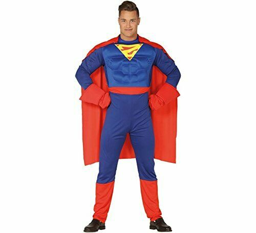 COSTUME SUPERMAN CARNEVALE VESTITO GUIRCA ADULTO SUPEREROE UOMO D/'ACCIAIO CLARK
