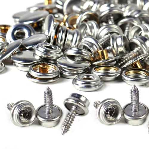 25sets Stainless Steel Canvas Snap Fastener to Screw Press Stud Marine Canopies