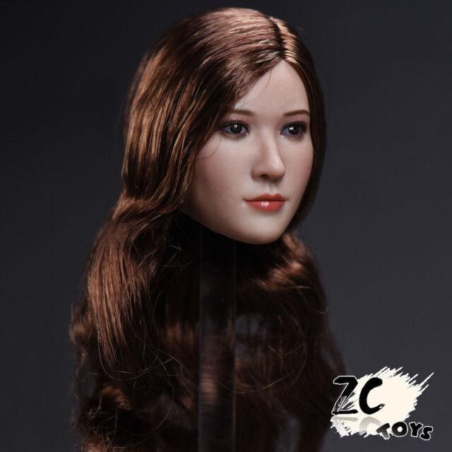 ZC TOYS 1:6 Beauty Long Curly Brown Head Sculpt F 12 PH